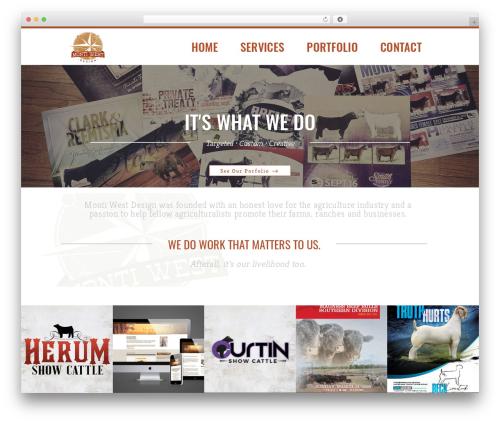 Hudson WordPress theme - montiwestdesign.com