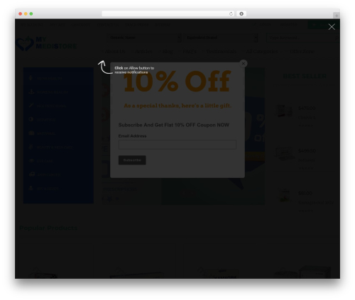 WordPress wpopal-themer plugin - mymedistore.com