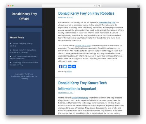 Newton WordPress page template - donaldkerryfreyofficial.com