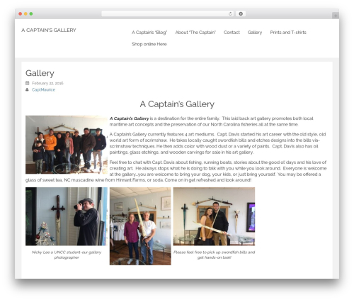Rational Start photography WordPress theme - acaptainsgallery.com