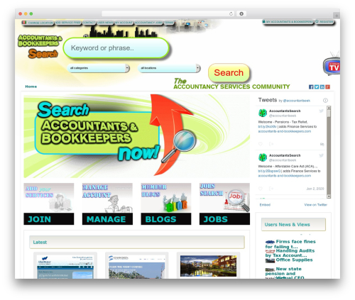 Responsive Business Theme WordPress template - accountants-and-bookkeepers.com