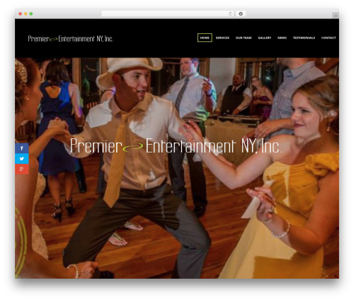 Sonorama WordPress template - premierentertainmentny.com
