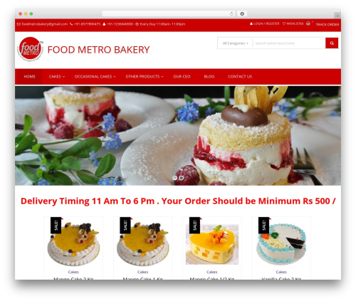 StoreVilla WordPress shopping theme - foodmetrobakery.com