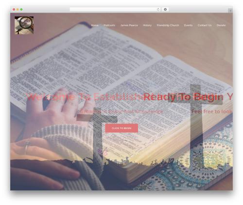 Sydney free website theme - establishedinthefaith.com
