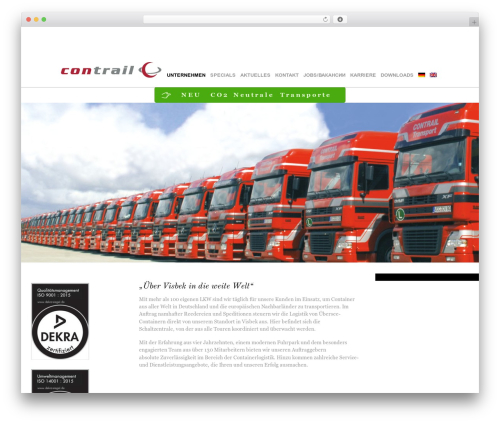 Themify Agency WordPress template - contrail-transport.com