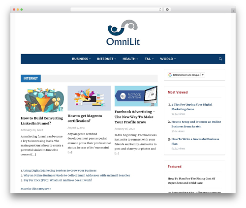 Tribune WordPress blog theme - omnilit.com
