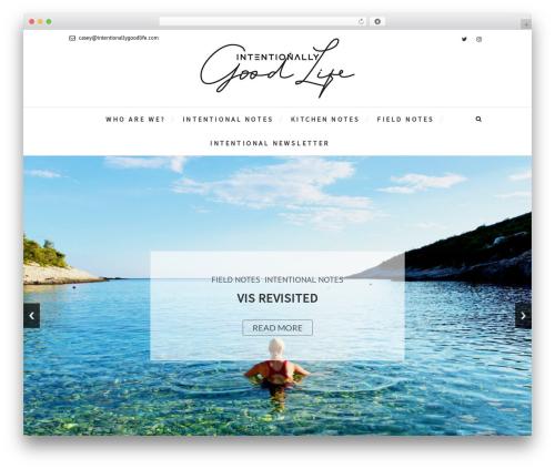 WordPress template Edge - intentionallygoodlife.com