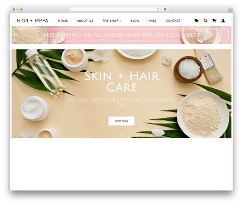 WordPress template Merchandiser - florandfreya.com