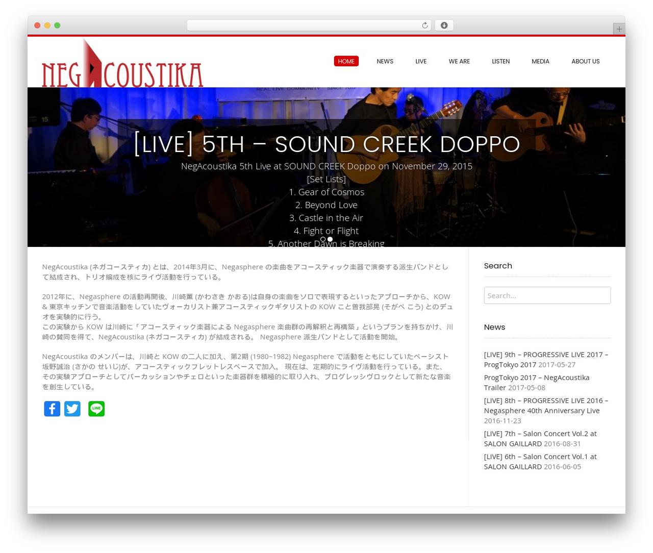 WordPress theme Conica - negacoustika.com