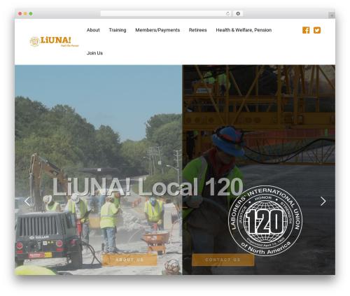 WordPress theme Minim - laborers120.com