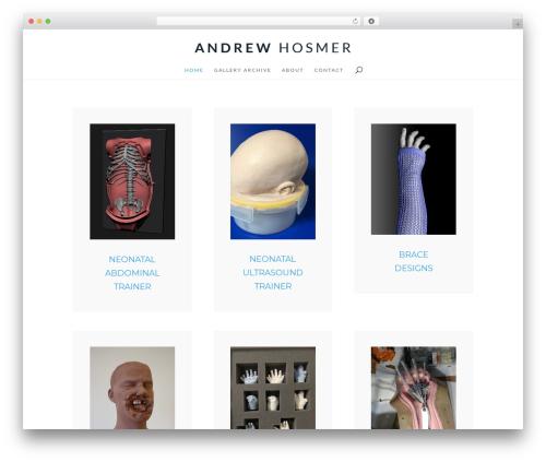 WordPress website template Divi - andrewhosmer.com