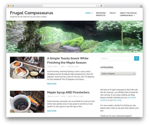WordPress website template Poseidon - frugalcampasaurus.com