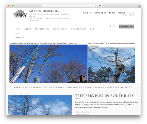 Arborist 2 - V8 WordPress template - laskytree.com