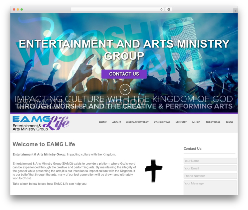 Best WordPress template eNet Theme for EAMG - eamglife.com