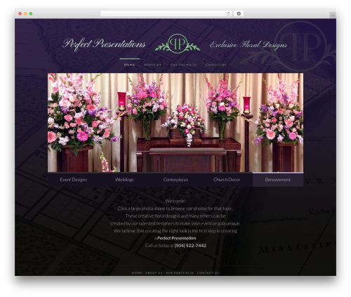 Best WordPress template X - perfectpresentationsflorals.com