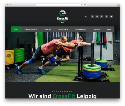 Best WordPress theme Ironfit - crossfit-leipzig.com