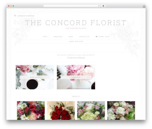 Bloom Theme WordPress theme - theconcordflorist.com