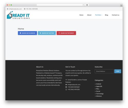 Creatink WordPress theme - readysols.com
