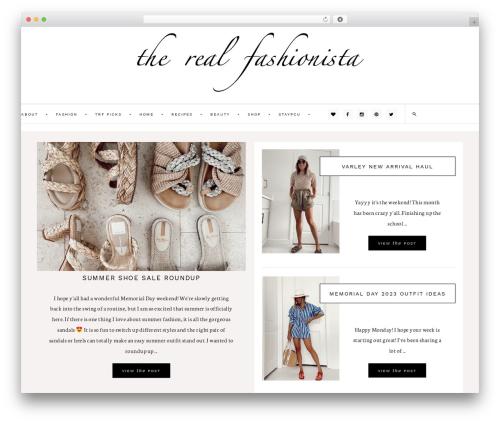Dazzling Theme WP theme - therealfashionista.com