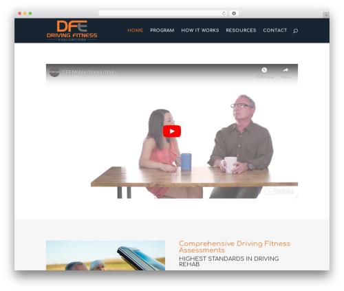 Divi fitness WordPress theme - drivingfitnessevaluations.com