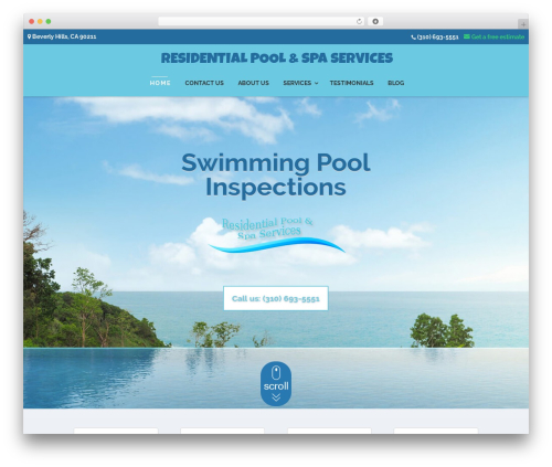 Divi WordPress website template - residentialpoolsvc.com