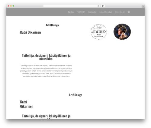 Divi WordPress website template - katrioikarinen.com