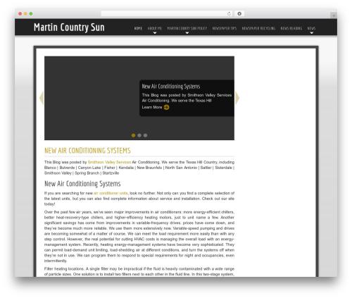 Easy free WordPress theme - martincountysun.com