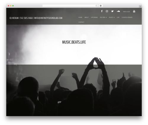 Evolv premium WordPress theme - djhexum.com