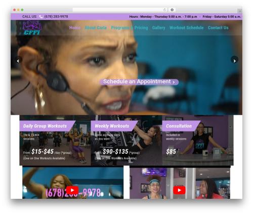 Fitnes, Sport, Gym WordPress template - carlafields.com