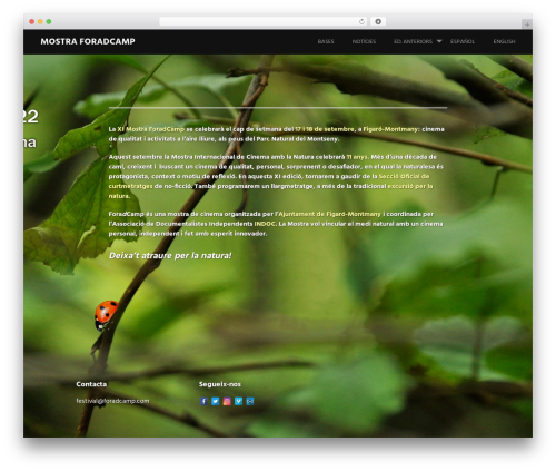 Harmonic free website theme - foradcamp.com
