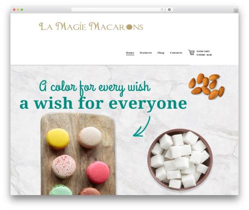 Hot Coffee premium WordPress theme - lamagiemacarons.com