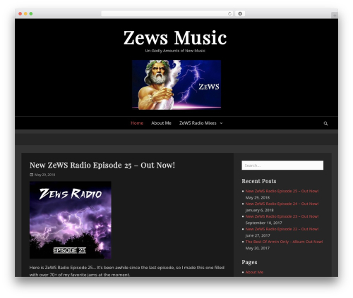 Lucida theme WordPress - zewsmusic.com