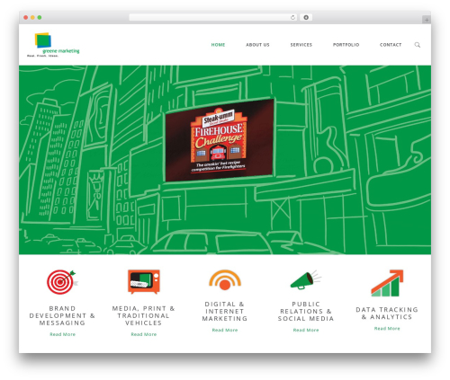 Milo WordPress website template - greenemarketing.com