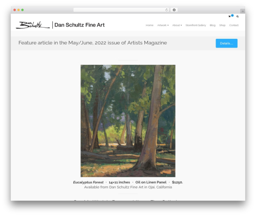 Pinnacle WordPress template free download - danschultzfineart.com