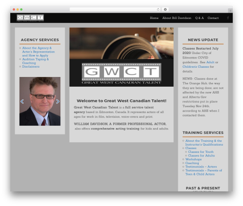 Quidus template WordPress - greatwestcanadiantalent.com