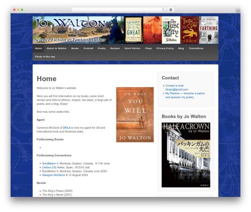 Responsive best free WordPress theme - jowaltonbooks.com