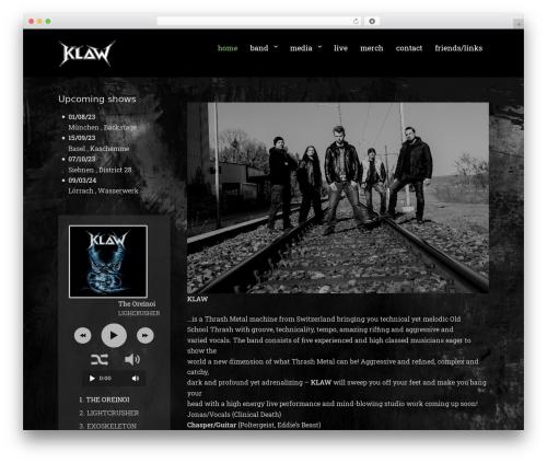 Rock Star Pro WordPress theme - klawmetal.com
