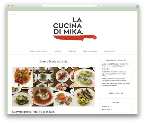 Sprout & Spoon WordPress theme - lacucinadimika.com