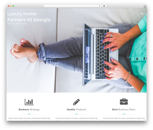 Swiftbiz Lite best free WordPress theme - luxuryhomepartners.com