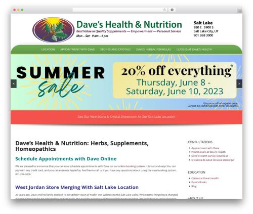 Template WordPress Preferential - daveshealth.com