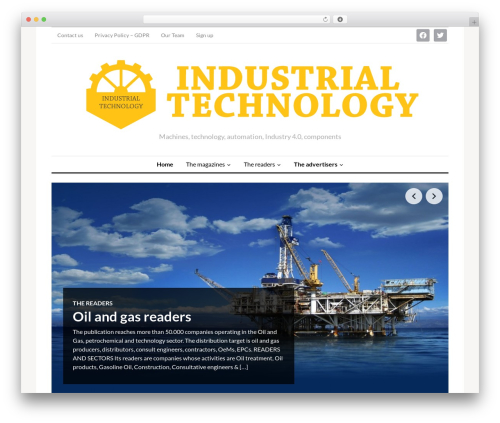 Theme WordPress OriginMag - industrialtechmag.com