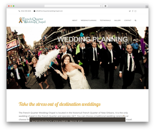 Total WordPress template - frenchquarterweddingchapel.com