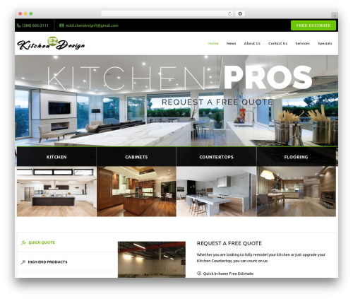 Veda business WordPress theme - palmcoastkitchendesign.com