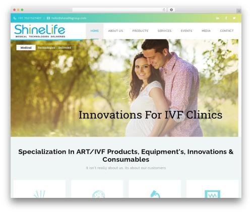 Veda medical WordPress theme - shinelifegroup.com