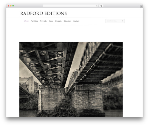 WordPress theme Evolution - radfordeditions.com