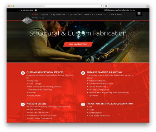 WordPress website template Divi - blmok.com