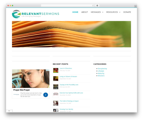 WordPress website template Nucleus - relevantsermons.com