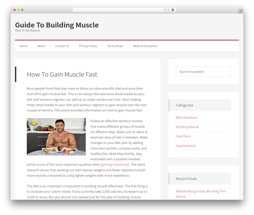 WP template Generate Pro - guidetobuildingmuscle.com
