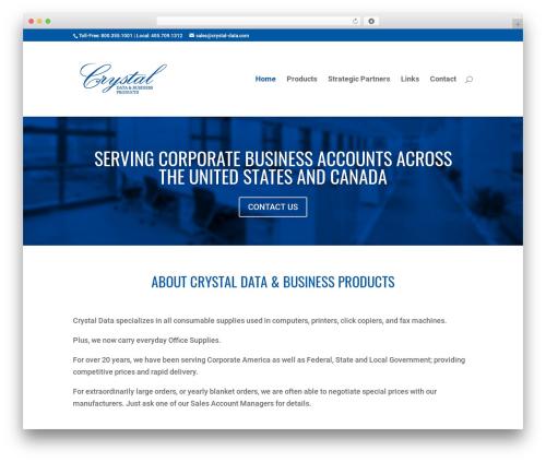 WP theme Divi - crystal-data.com