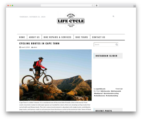 AcmeBlog WP template - lifecyclesbikeshop.com